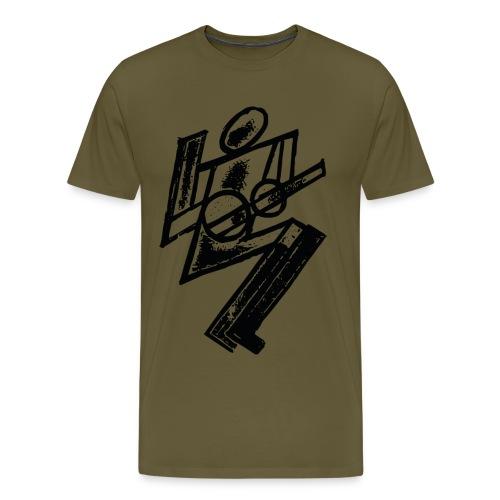 Futurist Guitarist - Men's Premium T-Shirt