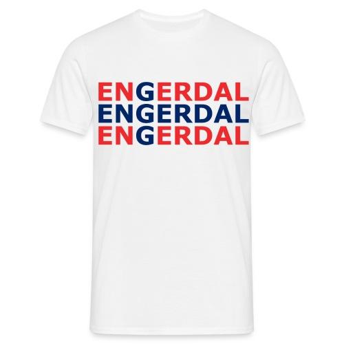 Engerdal flagget - T-skjorte for menn