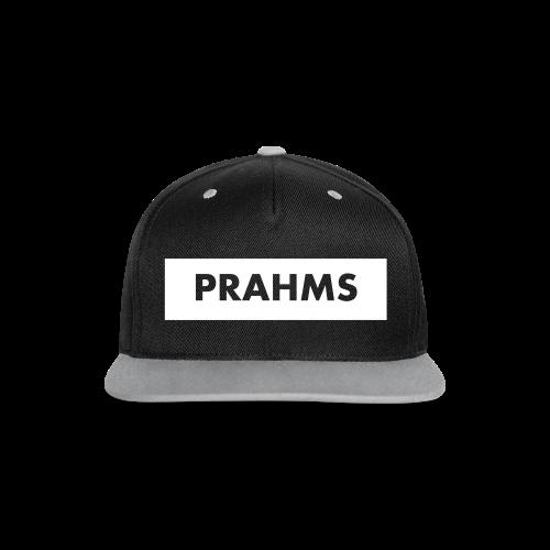 Cotton Cap Black On Grey - Prahms - Kontrast Snapback Cap