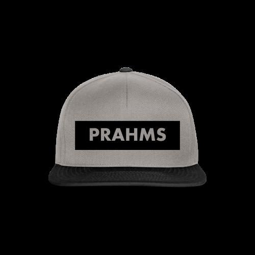 Cotton Cap Grey On Black - Prahms - Snapback Cap