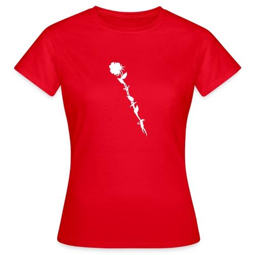 T-Shirt mit Rose - Frauen T-Shirt