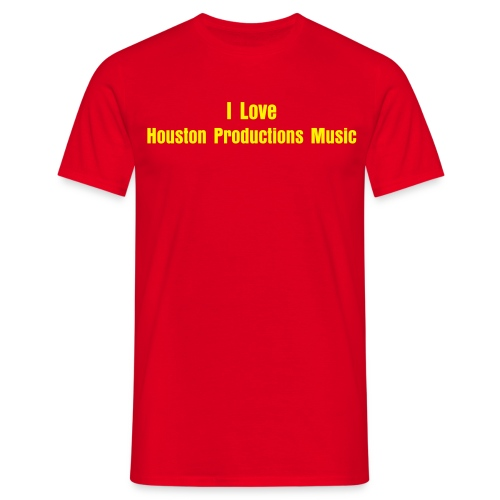 I Love Houston Productions Music - Men's T-Shirt
