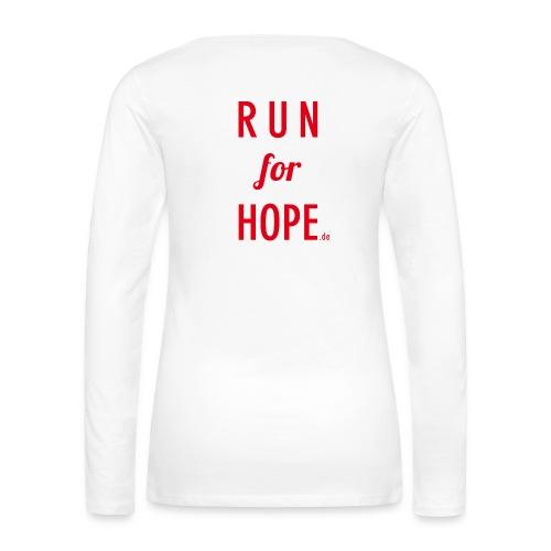 RUN for HOPE Frauen Long Sleeve - Frauen Premium Langarmshirt
