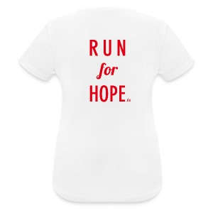 RUN for HOPE Frauen T-Shirt - Frauen T-Shirt atmungsaktiv
