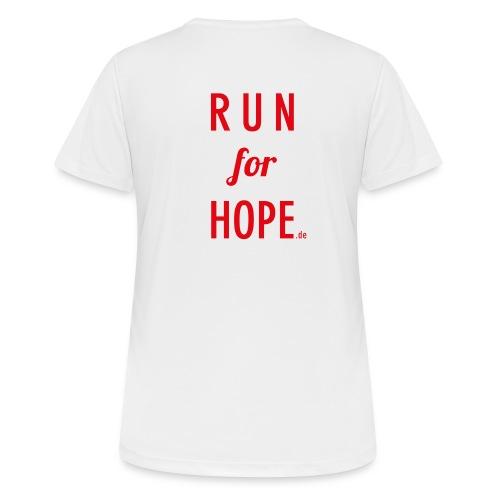RUN for HOPE Frauen T-Shirt - Frauen T-Shirt atmungsaktiv