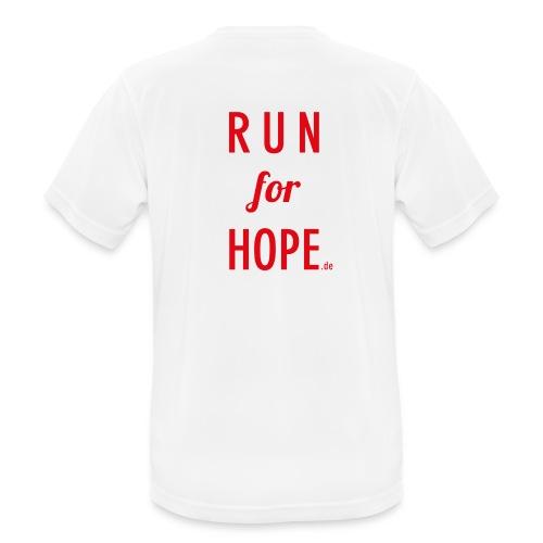 RUN for HOPE Männer T-Shirt - Männer T-Shirt atmungsaktiv