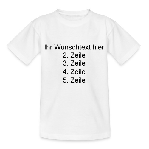 Kinder T Shirt weiss - Teenager T-Shirt