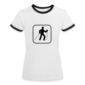Nordic Walking - Frauen Kontrast-T-Shirt