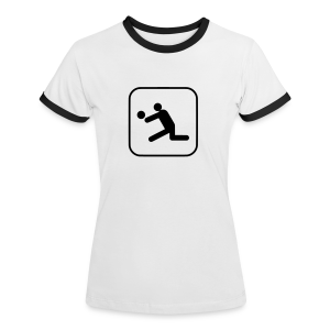 Volleyball - Frauen Kontrast-T-Shirt