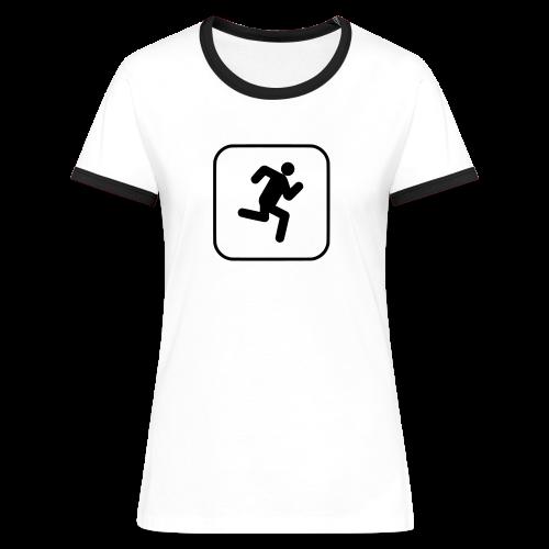 Laufen - Frauen Kontrast-T-Shirt