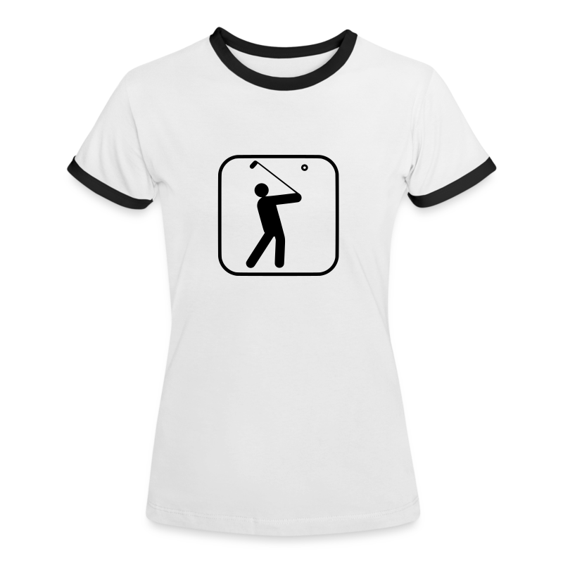 Golf - Frauen Kontrast-T-Shirt