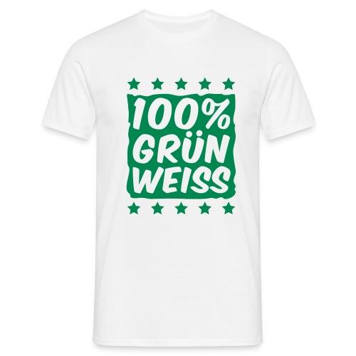 T-Shirt 100% Grün-Weiß - Männer T-Shirt