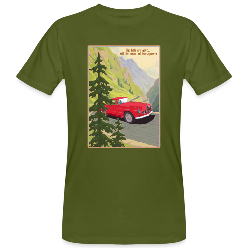the hills are alive - Mannen Bio-T-shirt
