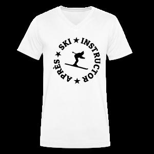 Après-Ski Instructor T-Shirt - Männer Bio-T-Shirt mit V-Ausschnitt von Stanley & Stella