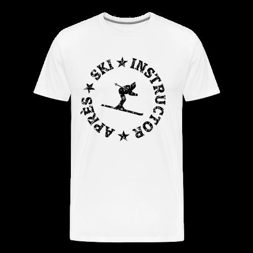 Après-Ski Instructor T-Shirt (Distressed Black) - Männer Premium T-Shirt