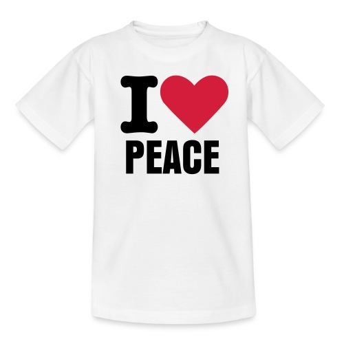 Tee-shirt enfant I love peace blanc - T-shirt Ado