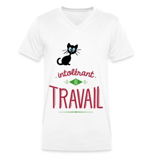 T-shirt Chat Homme Travail - T-shirt bio col V Stanley & Stella Homme