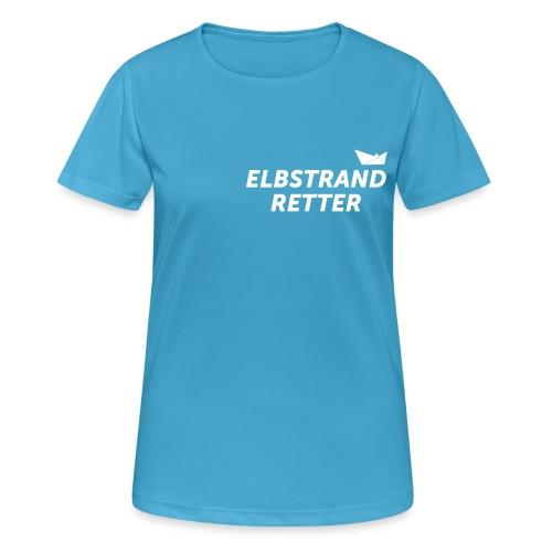 das RETTER SHIRT (für die moderne Frau) /  mit bedrucktem Rücken - Frauen T-Shirt atmungsaktiv