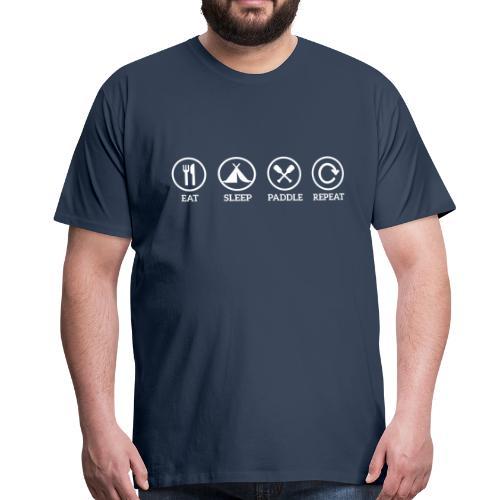 eat sleep paddle - Männer Premium T-Shirt