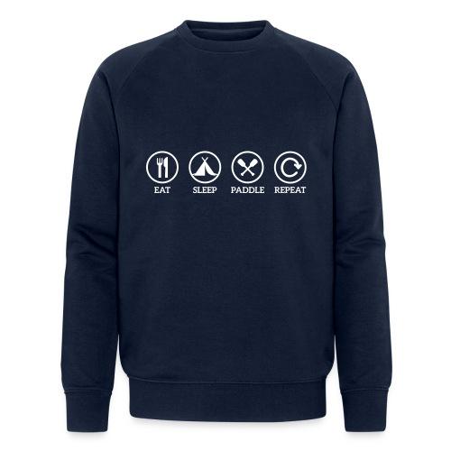 eat sleep paddle - Männer Bio-Sweatshirt von Stanley & Stella