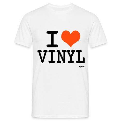 I love vinyl - T-shirt Homme