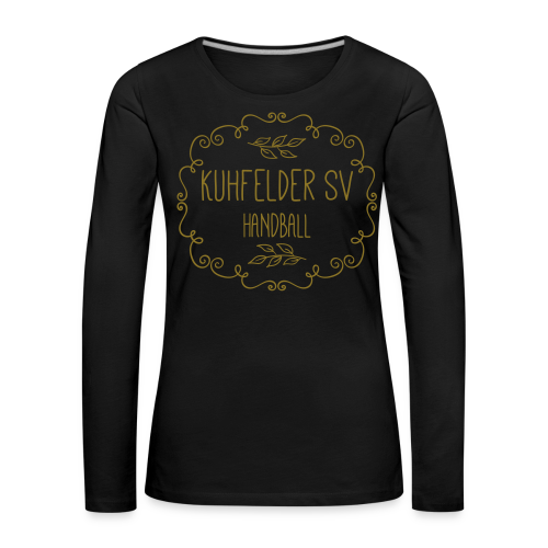 Kuhfelder SV Frauen Pullover vintage simple GOLD - Frauen Premium Langarmshirt