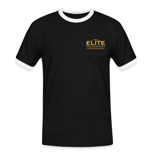 Elite Encounters Logo Ringer Men's Shirt - Men's Ringer Shirt