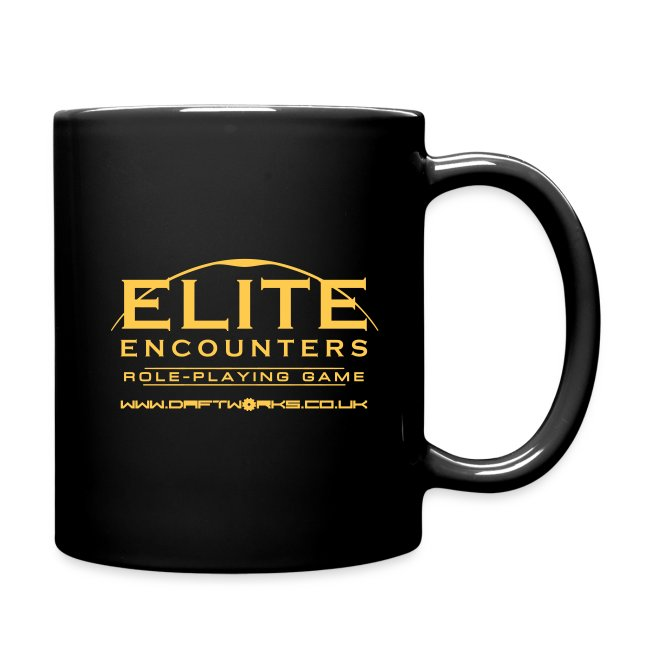 Elite Encounters Logo Gold on Black Mug
