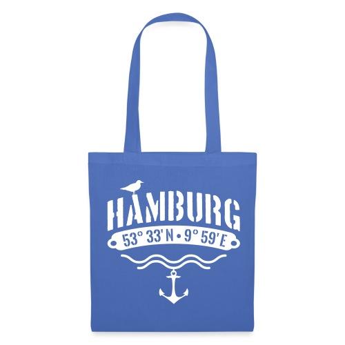 Hamburg Koordinaten - Stoffbeutel