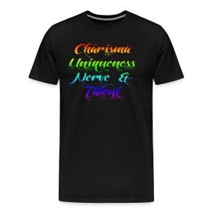 Charisma Uniqueness Nerve and Talent - Men's Premium T-Shirt
