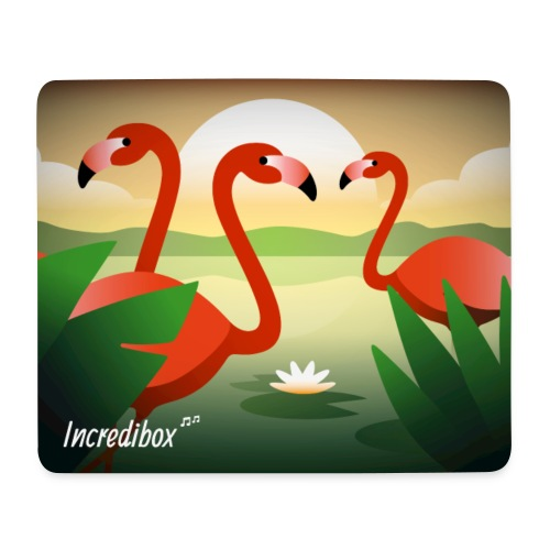 FLAMINGOS MOUSE MAT - Mouse Pad (horizontal)