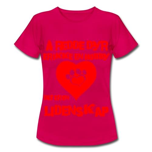 Å redde dyr - T-skjorte for kvinner