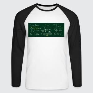 Rechnung Stullenandi - Männer Baseballshirt langarm