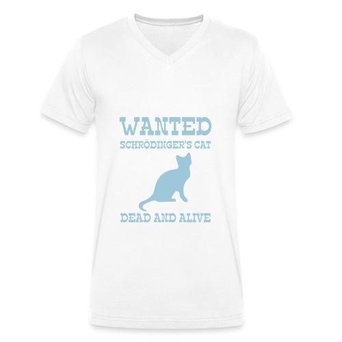 T-shirt Homme Les chat Wanted Schrödinger - T-shirt bio col V Stanley & Stella Homme