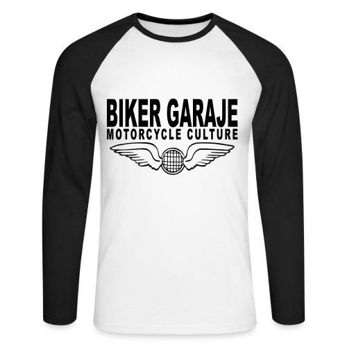 Motorcycle Culture Biker Garaje - Raglán manga larga hombre