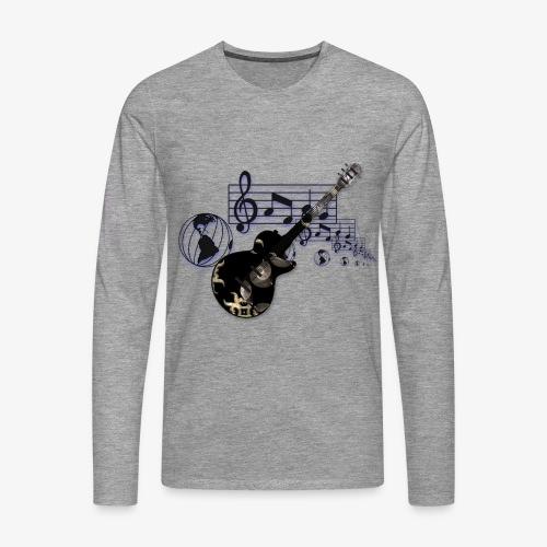 Musik Welt .... Männer T Shirt - Männer Premium Langarmshirt