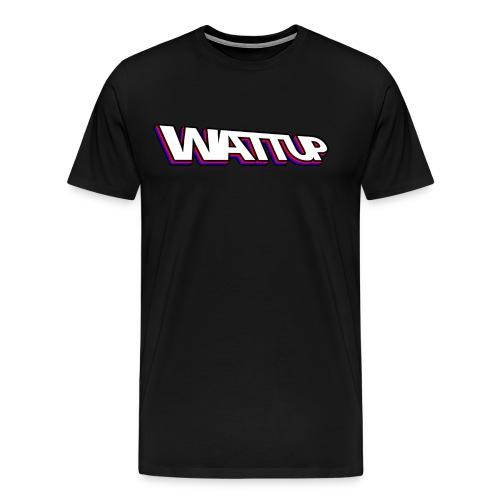 WATTUP 3D T-shirt (man) - Mannen Premium T-shirt