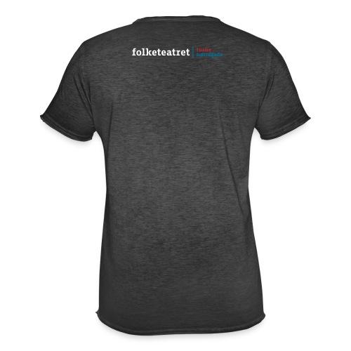 Mørkegrå vintage Tshirt med kombi logo - Herre vintage T-shirt