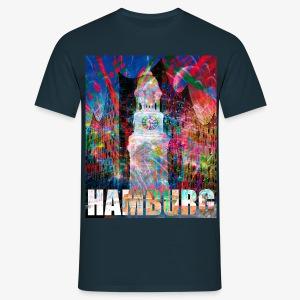 Elphi & Michel Hamburg Elbphilharmonie Männer T-Shirt - Männer T-Shirt