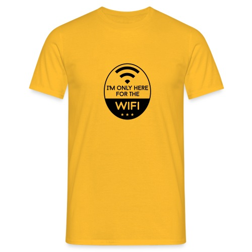 Only for WIFI - Männer T-Shirt