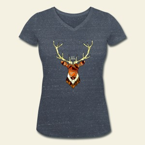 Cerf Hipster automne - T-shirt bio col V Stanley & Stella Femme