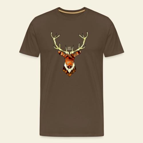 Cerf Hipster automne - T-shirt Premium Homme