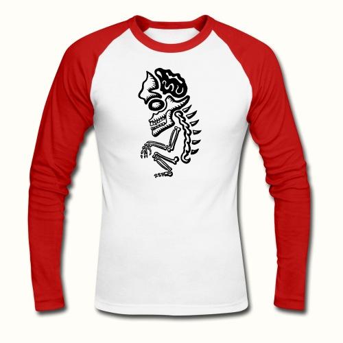 Squatting Skeleton VLA 50 - Mannen baseballshirt lange mouw