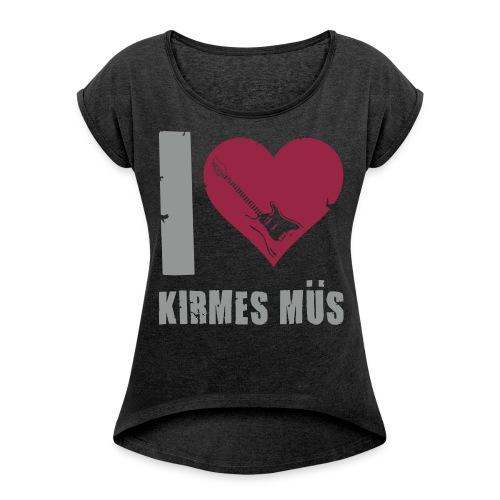 Girlie-Shirt  - Frauen T-Shirt mit gerollten Ärmeln