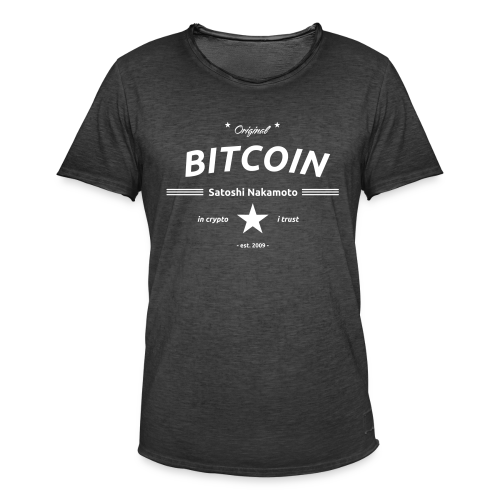in crypto i trust Satoshi Nakomaoto BTC Bitcoin Ƀ T-Shirts - Männer Vintage T-Shirt