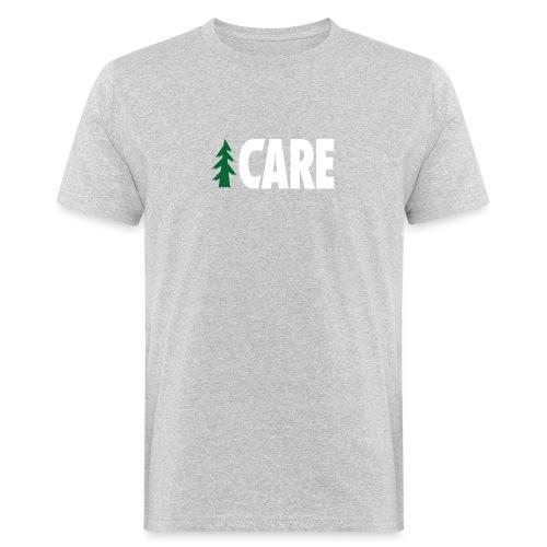 I CARE MEN Basic grey/green/white - Männer Bio-T-Shirt