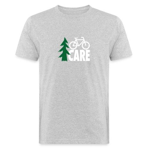 I CARE MEN Bike grey/green/white - Männer Bio-T-Shirt