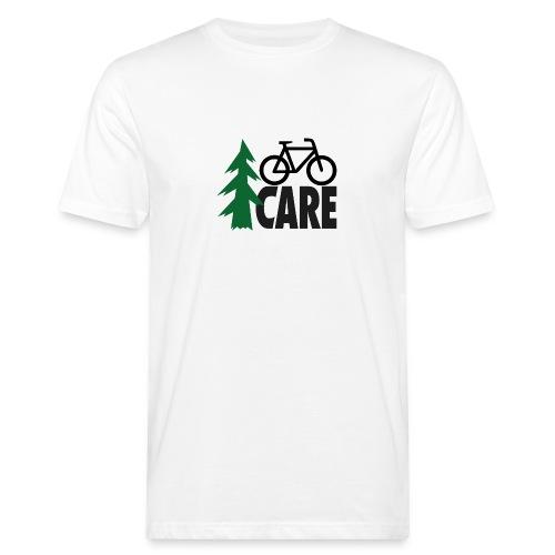 I CARE MEN Bike white/green/black - Männer Bio-T-Shirt