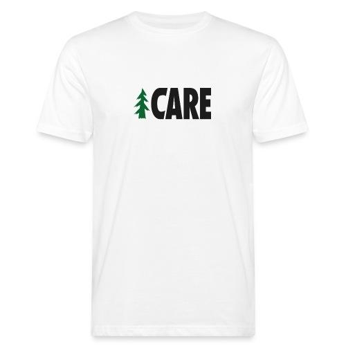 I CARE MEN Basic white/green/black - Männer Bio-T-Shirt