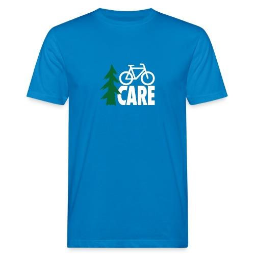 I CARE MEN Bike blue/green/white - Männer Bio-T-Shirt